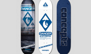 "Concepts x Alien Workshop ""Blue Lobster"" Skate Decks"