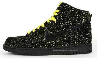 Nike Holiday 2009 Dunk Hi Volt Yellow Speckle