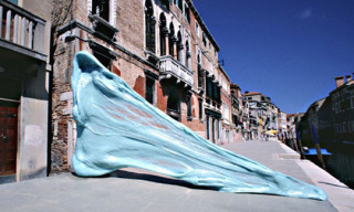 "Simone Decker ""Chewing in Venice"" Gum Sculptures"
