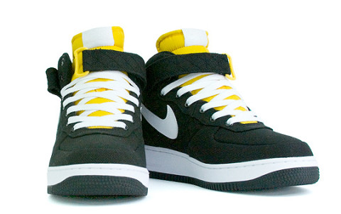nike air force 1 mid black and yellow