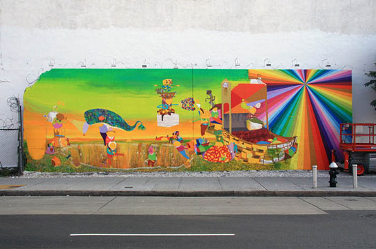 os gemeos mural in new york city highsnobiety. Black Bedroom Furniture Sets. Home Design Ideas