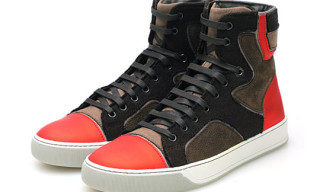 Lanvin Fall/Winter 2009 High Top Trainer Brown/Red