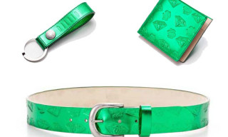 BBC/Ice Cream Metallic Green Leather Accessories