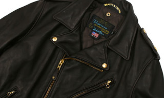 Schott x Beauty & Youth Biker Leather Jacket