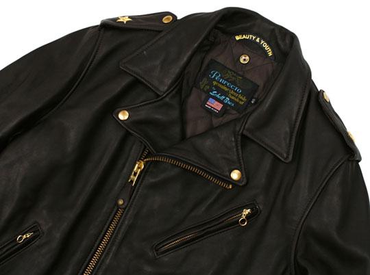 Black Leather Jacket Gold Zippers - Jacket