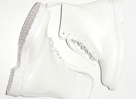 Dr. Martens White Combat Boot | Highsnobiety