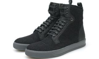 Lanvin Jersey High Top Sneaker