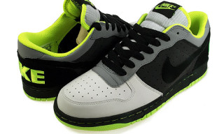 Nike Big Nike Low Grey/Neon Yellow