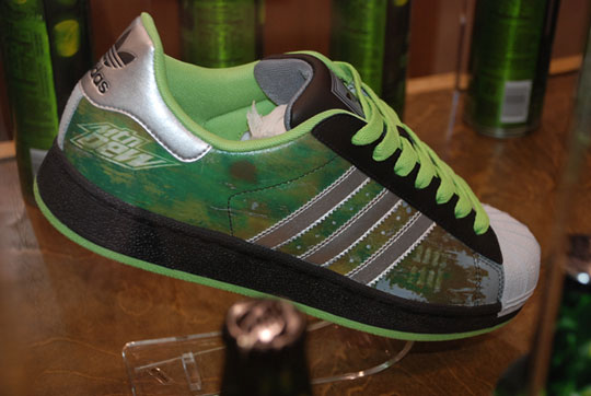 green label art by mountain dew adidas superstar g
