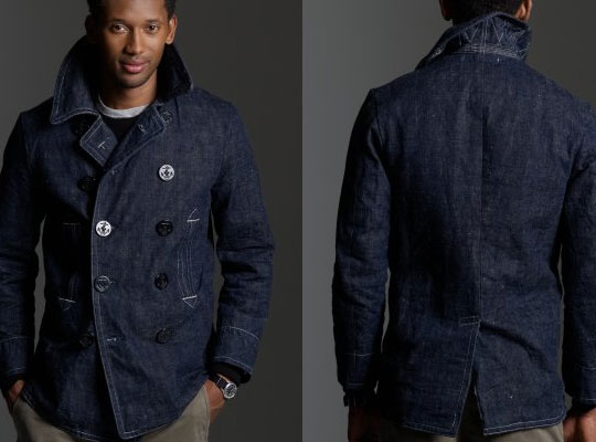 Mr. Freedom x J.Crew Denim Pea Coat | Highsnobiety