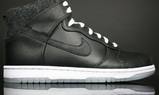 Nike Dunk Hi Premium Black Leather/Felt