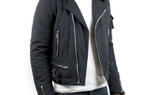 Raf by Raf Simons Wool Biker Jacket