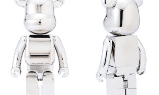 The Black Sense Market x Medicom 1000% and 200% Stainless Steel Bearbricks