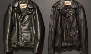 Schott x nano universe Leather Biker Jackets
