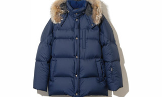 SOPHNET. Rip Stop Diamond Detachable Fur Down Jacket