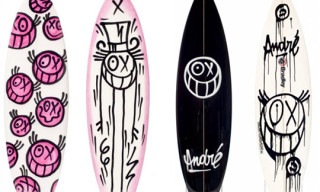 André Hand Painted Quiksilver Surfboards