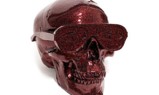 Michael Leon Metallic Red Flake Skull