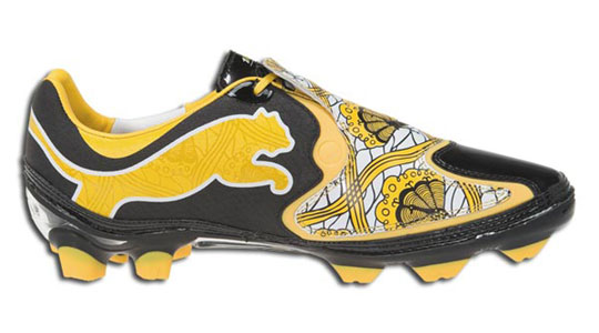 new arrive 7a3a0 8b61b best Puma x Kehinde Wiley v110 Soccer Shoes Highsnobiety