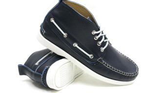 3sixteen x Quoddy Trail Deck Chukka Navy Chromexcel