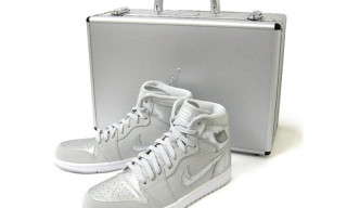 Nike Air Jordan 1 Retro Silver 25th Anniversary Package