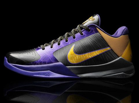 Nike and Kobe Bryant today introduced the Zoom Kobe V, Nike's lightest basketball  shoe ever, at a global media event held at The L.A. Forum in Los Angeles.