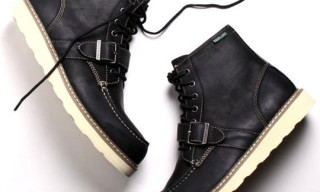 a.ok x Eastland Black Buckle Lace Up Boot