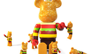 "Gettry x Medicom Toy ""Burger"" Bearbrick Set"