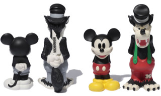 Neighborhood x Disney Mickey Mouse and Big Bad Wolf Vinyl Figures