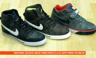 Nike January 2010 Sneaker Preview | Delta Force High AC, Auto Force 180, LunarRacer, Lunar Rejuven8, etc