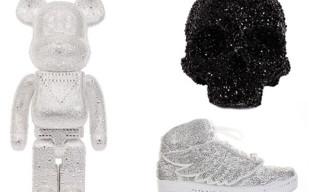 Swarovski x colette – adidas J Wings Sneaker, Fabien Baron Skull, 400% Bearbrick