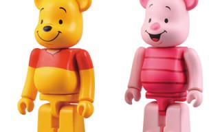 Medicom Toy Winnie-the-Pooh & Piglet BEARBRICK Set