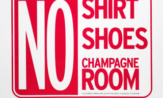 """No Champagne Room"" Print by Aaron Young"