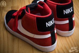 nike blazer high red