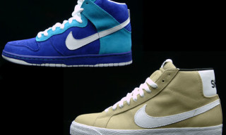 "Nike SB Mystery Strike – Blazer SB ""Shoe"" and Dunk High SB ""Lost"""
