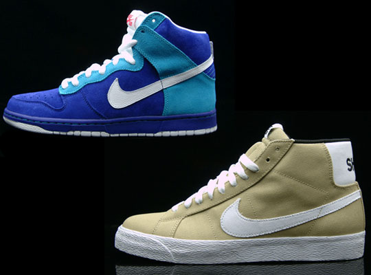 ... Nike SB Mystery Strike - Blazer SB Shoe and Dunk High SB .