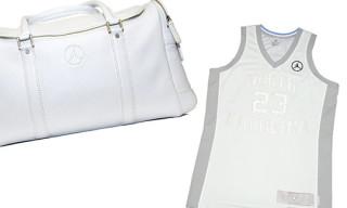 Jordan Silver Anniversary UNC Jersey & Cole Haan Duffle Bag
