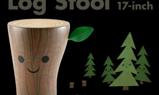 Kid Robot Log Stool by Amanda Visell