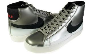 Nike Blazer High Premium – Metallic Silver