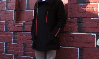 Feal Mor Melton Wool Zip Coat
