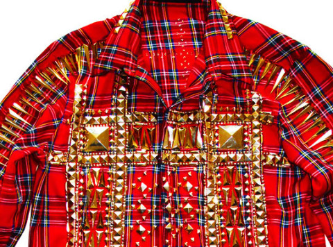 Riccardo Tisci for Givenchy Stud Tartan Shirt