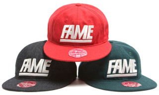 "Hall of Fame x Mitchell & Ness ""Fame Block"" Melton Wool Caps"