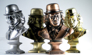Ludwig Van Metal Mini Busts by Kozik