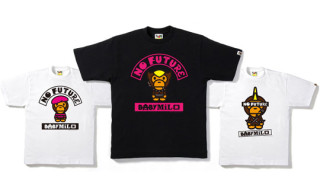 "A Bathing Ape Baby Milo ""No Future"" T-Shirts"