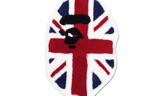 "A Bathing Ape ""Union Jack"" Ape Face Rug"