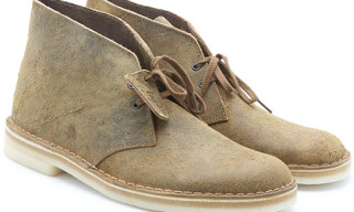 Clarks Desert Boot Teak Destroyed Leather