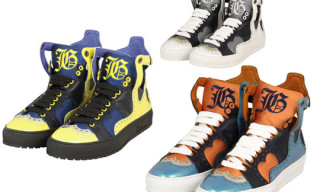 John Galliano Homme High-Top Sneakers