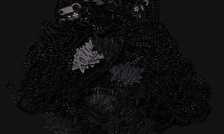 """Ambush x RSVP Gallery Matte Black """"POW"""" Necklace"""
