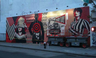 First Look: Shepard Fairey Mural in New York for Deitch Projects