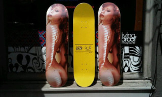 Living Proof x Ellen Stagg x Justine Jolie Skateboard Deck