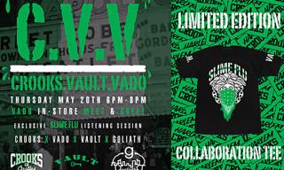 "VADO x Crooks & Castles x Vault x Goliath ""Slime Flu"" T-Shirt"